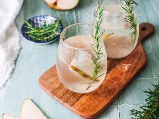 White Sangria Recipe in a glass.