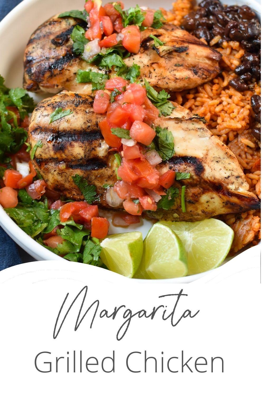 Margarita Grilled Chicken with logo.