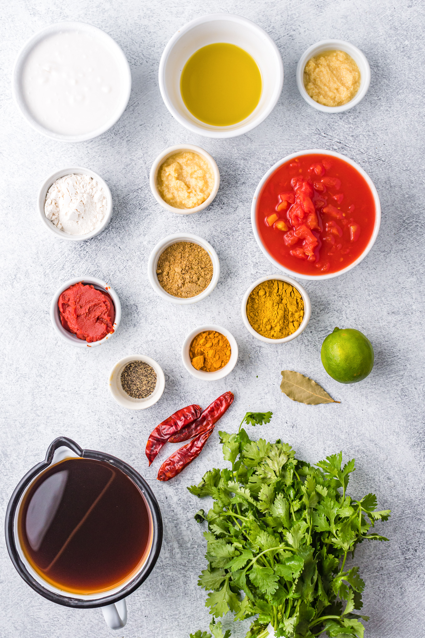 Curry Meatballs Recipe ingredients.