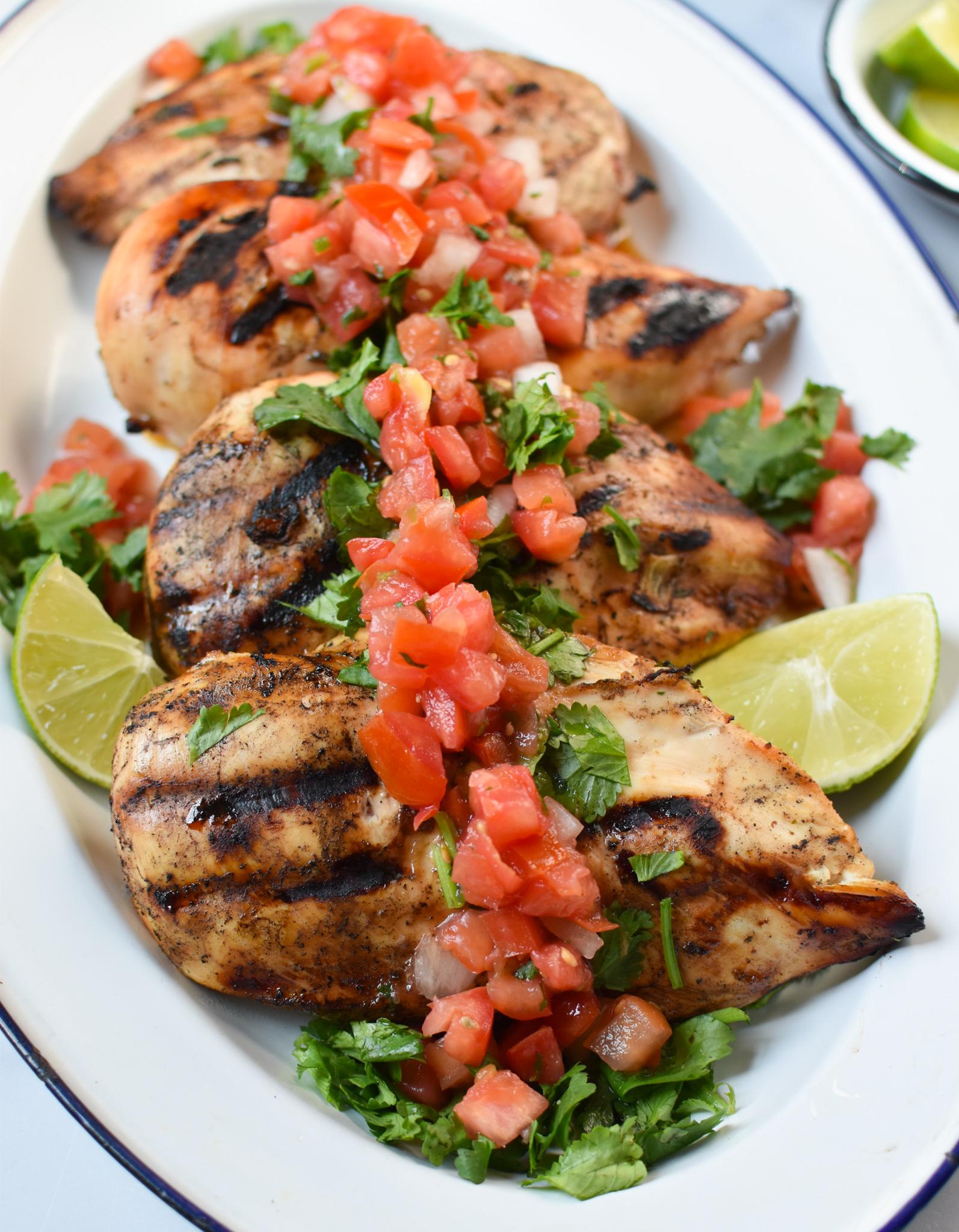 Margarita Grilled Chicken on a platter.