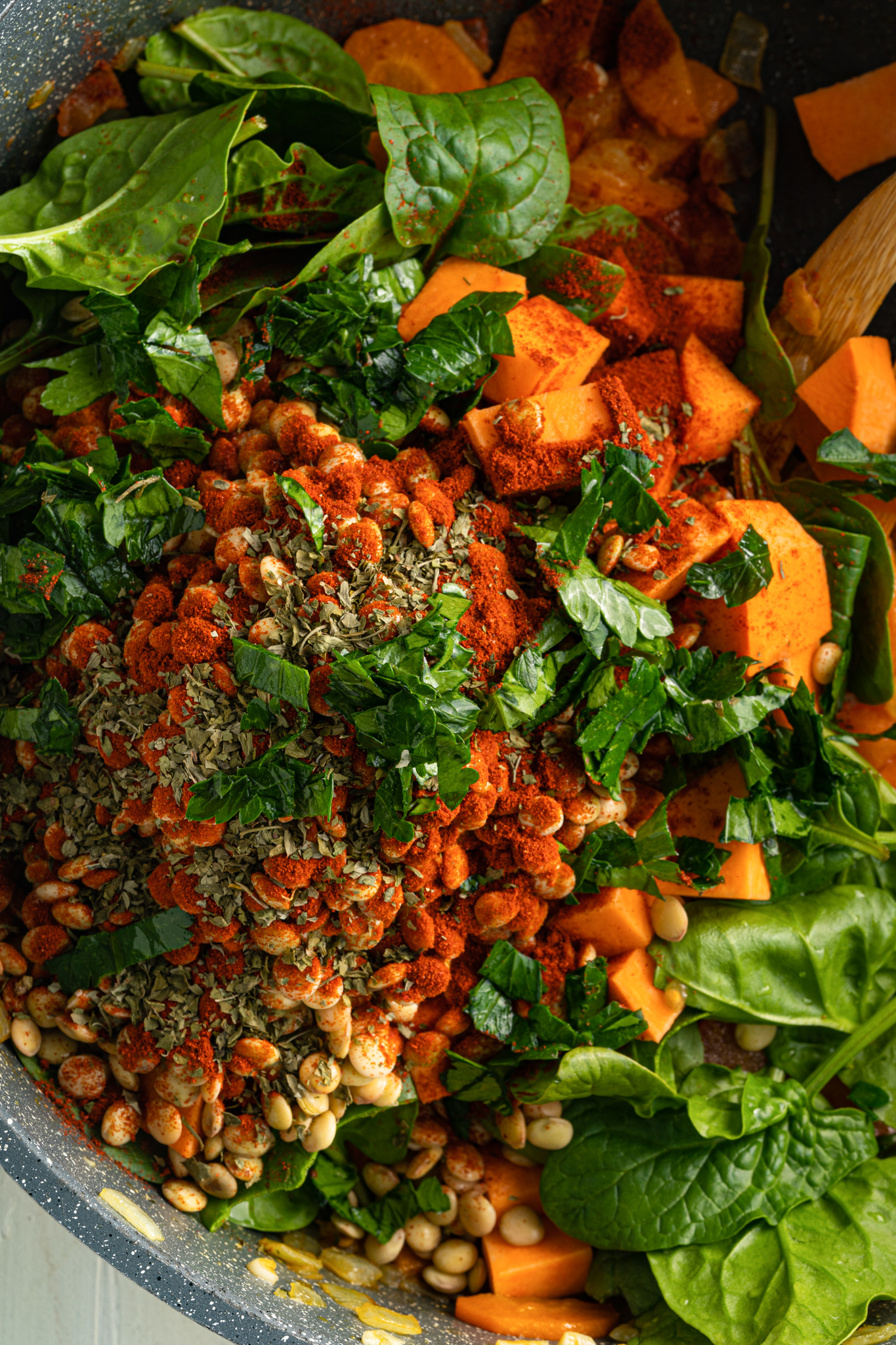 Lentil Sweet Potato Stew Recipe with spices.