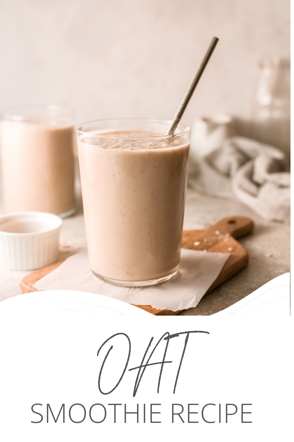 Oat Smoothie Recipe with logo.