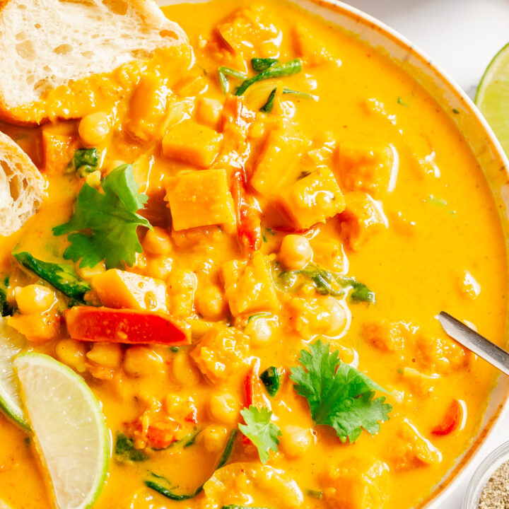 Pumpkin Curry Recipe with cilantro.