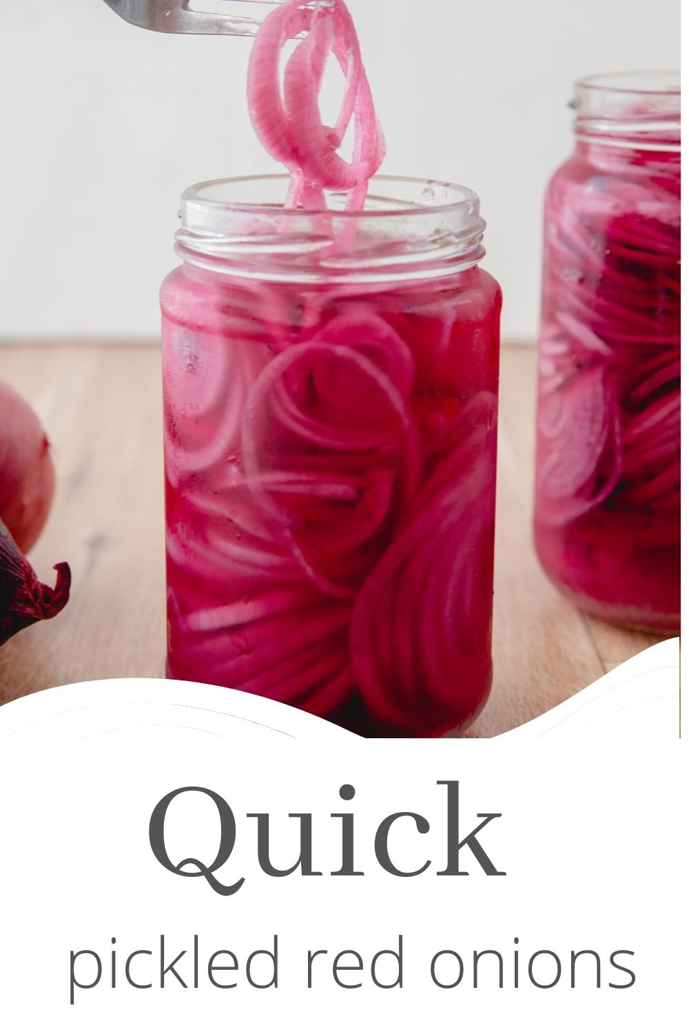Quick Pickled Red Onions with logo.